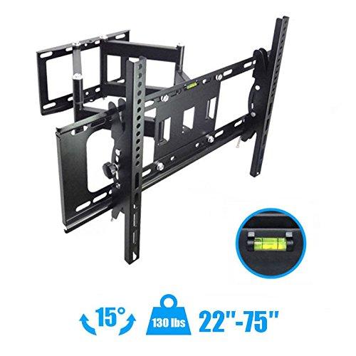 TV Wall Mount Articulating Full Motion15°Tilt 160°Swivel For 50