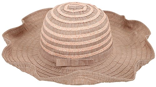 D Diana Dickson Womens' Wide Brim Floppy Summer Beach Sun Hat,Cameo