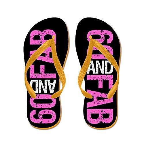 CafePress Fabulous 60Th Birthday - Flip Flops, Funny Thong Sandals, Beach Sandals Orange