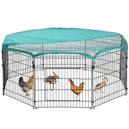 "BestPet 8 Panel 24"" Pet Playpen w/Door & Cover Rabbit, used for sale  Delivered anywhere in USA"