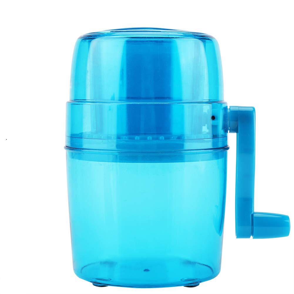 Portable Manual Ice Crusher Household Snow Cone Crusher Manual Operated Ice Breaker with Anti-Slip Bottom and Hand Crank