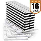 DIYMAG Strong Neodymium Bar Magnets with Double-Sided Adhesive, Rare Earth Neodymium Magnet - 60 x 10 x 3 mm, Pack of 16