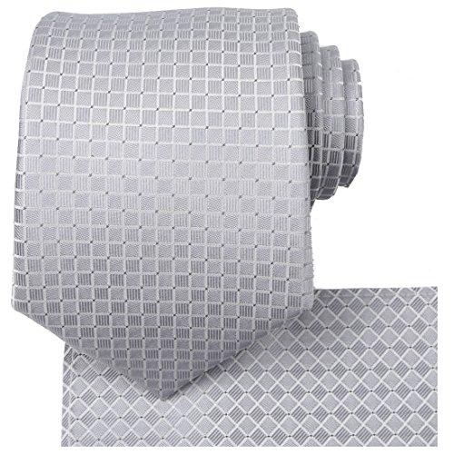 Silver Grey Neck Tie - 3