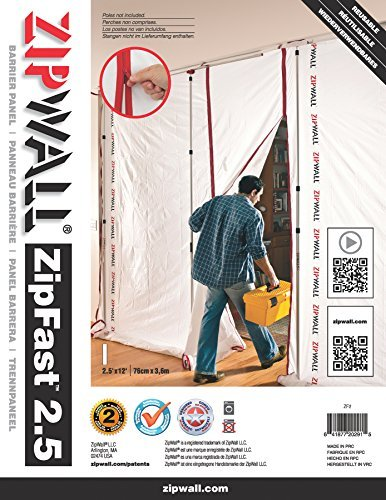 ZipWall ZF2 ZipFast Reusable Barrier Panel for Dust Barriers 2.5ft/76cm by ZipWall - - Amazon.com