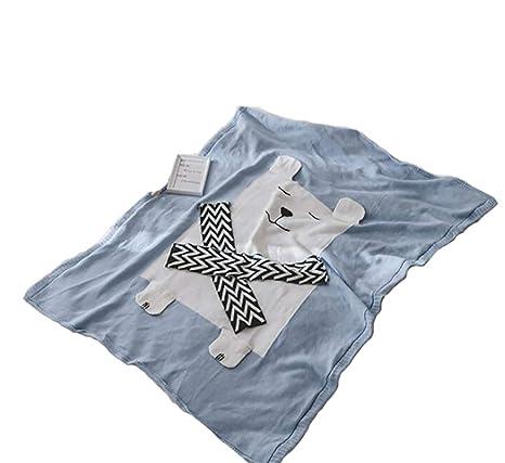 Manta Bebe Recien Nacido, manta de punto Manta de oso de bufanda de ...