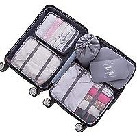 AMERTEER Travel Bag Organizer Luggage Packing Organizers Packing Cubes Set for Travel (grey)