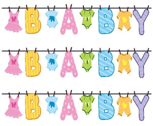 Baby Shower Clothesline Edible Cake Border Decoration by Edible Art   B007SXJ84G