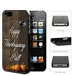 Happy Thanksgiving Y'All Wood Fence Pumpkin Hard Plastic Snap On Cell Phone Case Apple iPhone 4 4s