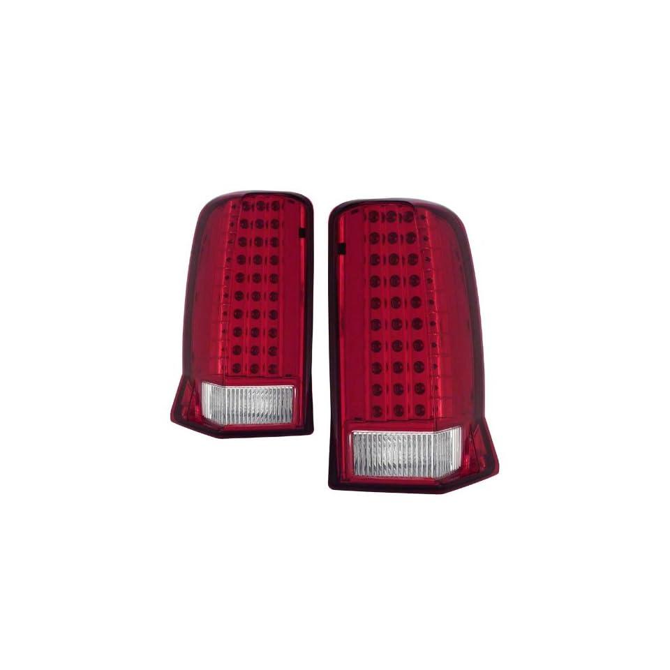 2002 2006 Cadillac Escalade KS LED Red/Clear Tail Lights W/O CAP