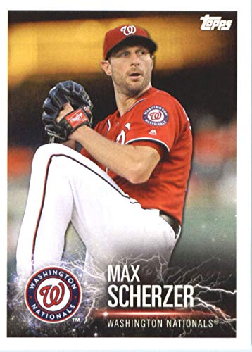 2019 Topps MLB Stickers Baseball #235 Max Scherzer/Trevor Bauer Washington Nationals/Cleveland Indians Trading Card Sized Album Sticker with Collectible Card Back Cleveland Indians Photo Album