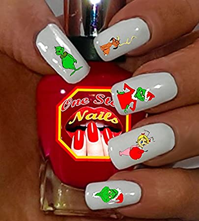 Amazon Grinch Who Stole Christmas Disney Nail Art Decals Clear