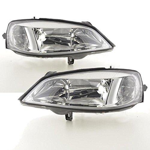 Brand New Aftermarket Replacement Chrome Inner Halogen Headlights Headlamps Drivers & Passenger Side 1 Pair