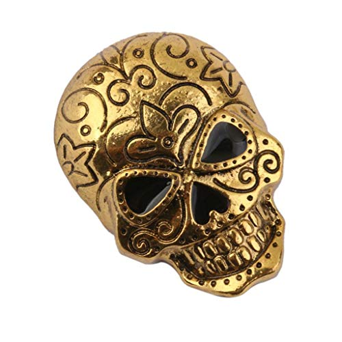 Gothic Punk Skull Skeleton Brooch Lapel Pin Halloween Party Costume Jewelry (Item - 1) ()
