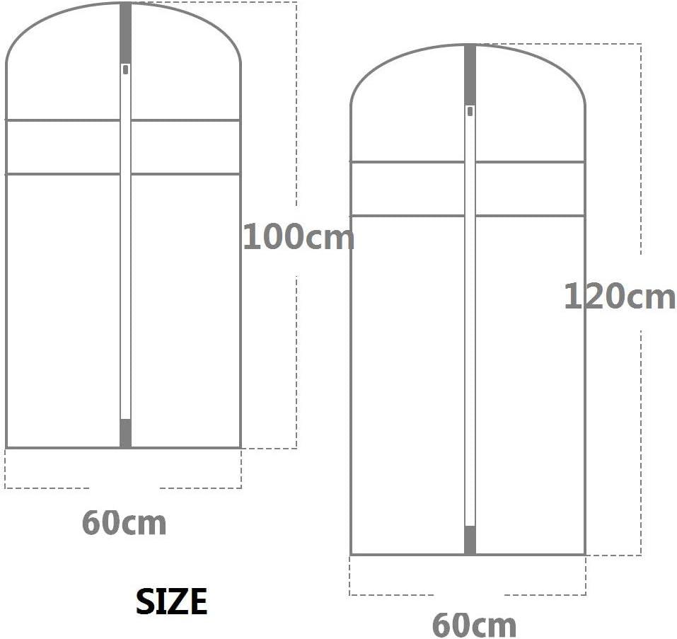 Bolsa para Ropa Color Negro Qisiewell Premium 10 Unidades, 5 m, 60 x 100 cm + 5 L, 60 x 120 cm