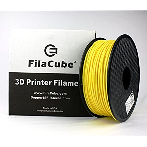 Discount FilaCube 2.85mm Yellow PLA 2 (PLA Second Generation) 3D Printer Filaments 1kg (2.2 lbs) - Made in USA free shipping