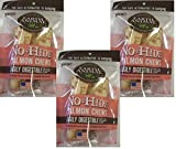 Earth Animal No-Hide Salmon Chews - 6 Chews Total (3 Packages with 2 Chews Each)