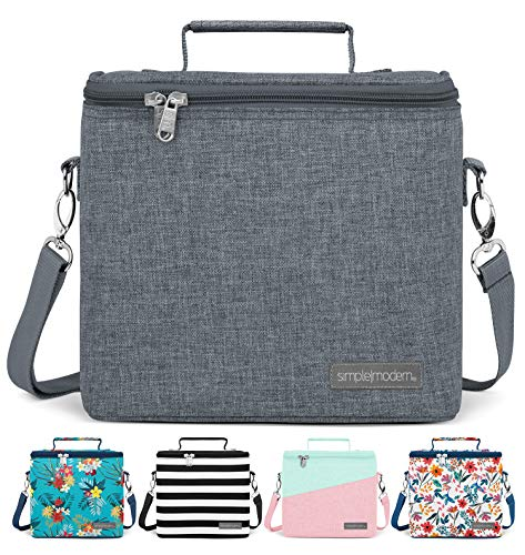 Simple Modern 4L Blakely Lunch Bag for Women & Men - Gray Insulated Kids Lunch Box -Slate