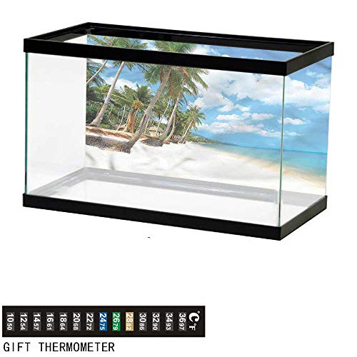 Suchashome Fish Tank Backdrop Ocean,Exotic Hawaii Beach Vacation,Aquarium Background,36