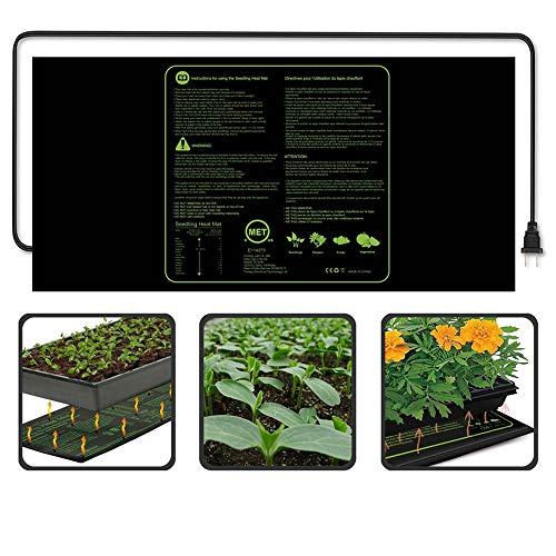 Almohadilla térmica para plantas - IP67 Impermeable Calentador para plantas - Crecimiento duradero, plántulas impermeables...