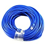 Gold Plated 50FT CAT5 CAT5e RJ45 PATCH ETHERNET NETWORK CABLE 50 FT For PC, Mac, Laptop, PS2, PS3, XBox, and XBox 360 to hook up on high speed internet from DSL or Cable internet. 5 Importer520 Brand Product Perfect in conjunction with 10 and 100 Base-T, and even 1000 Base-T networks. 50-micron gold plated connectors to insure a clean and clear transmission.