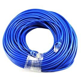 Gold Plated 50FT CAT5 CAT5e RJ45 Patch ETHERNET Network Cable 50 FT for PC, Mac, Laptop, PS2, PS3, Xbox, and Xbox 360 to Hook up on high Speed Internet from DSL or Cable Internet. 8 Importer520 Brand Product Perfect in conjunction with 10 and 100 Base-T, and even 1000 Base-T networks. 50-micron gold plated connectors to insure a clean and clear transmission.