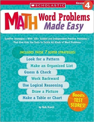Amazon.com: Math Word Problems Made Easy: Grade 4 (9780439529723 ...