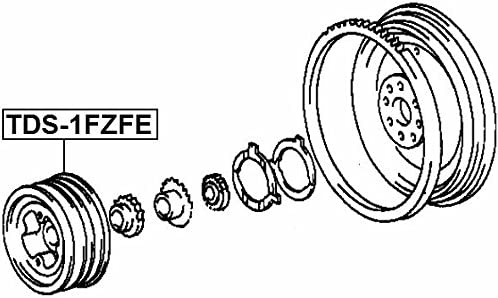 Crankshaft Pulley Engine Febest TDS-1FZFE Oem 13470-66030