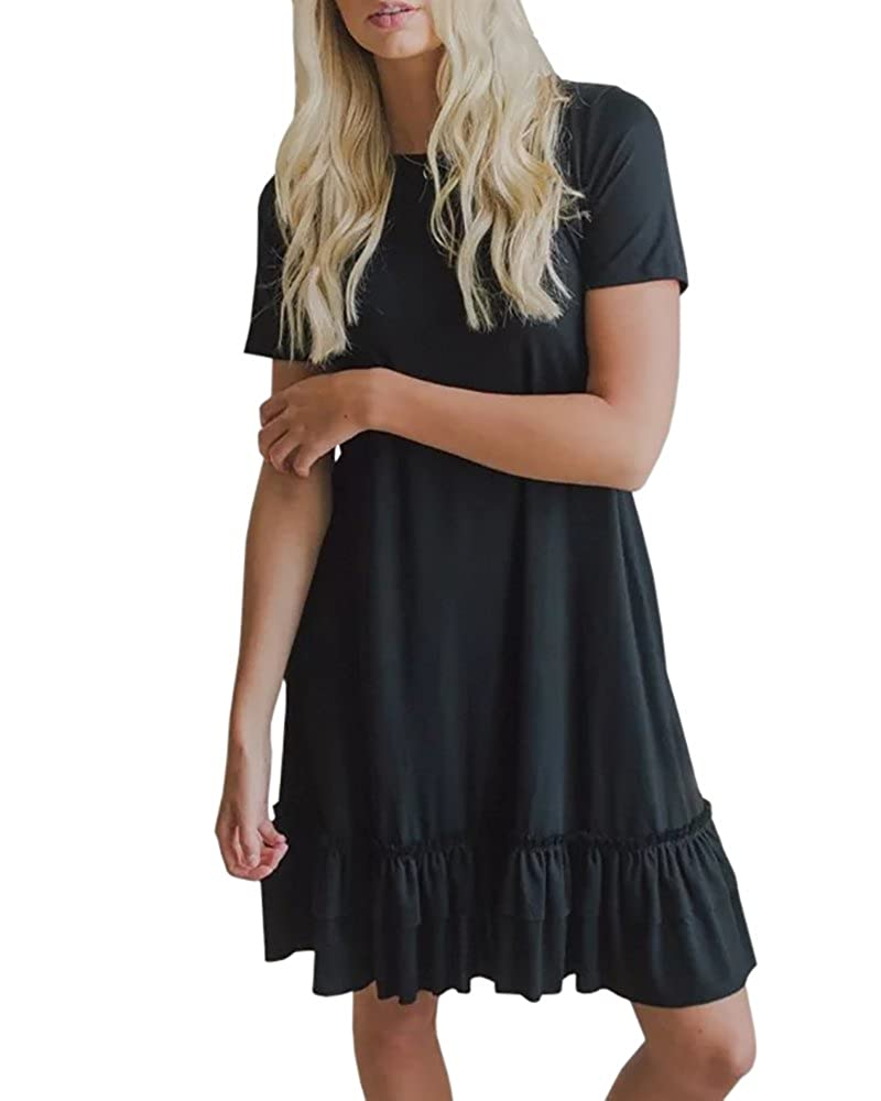 faadff2d8fc The short sleeve midi dress with high quality material