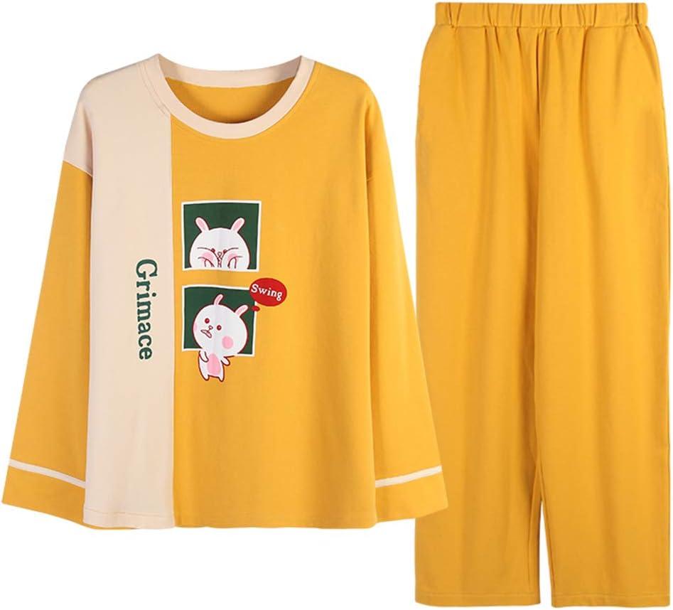 DUXIAODU Pijama de algodón para Mujer | Suave y Confortable | Simple y Elegante,Albornoz Suelto de algodón de Gran tamaño A-9 L: Amazon.es: Hogar