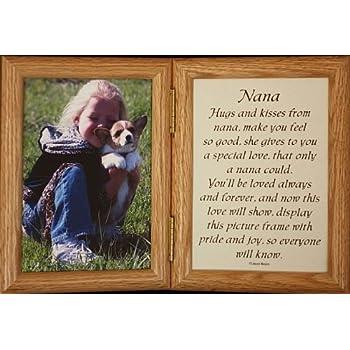 5x7 hinged nana poem oak picture photo frame gift for nanagrandparent - Nana Frame