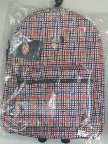 """NEW DICKIES """"STUDENT"""" BACKPACK / BAG AUTHENTIC COMP JANSPORT BLK Multi-Color NWT"""