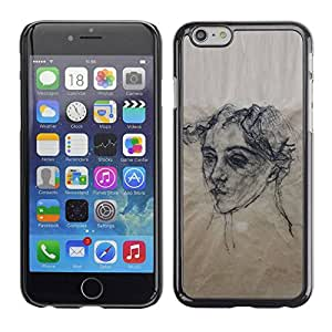 LASTONE PHONE CASE / Slim Protector Hard Shell Cover Case for Apple Iphone 6 Plus 5.5 / Artist Black White Wood