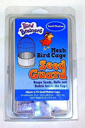 65 Seeds (Bird Brainers Nylon Mesh Seed Guard, White, Small/Medium 35-65 Inches)