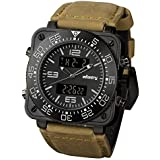 INFANTRY® Night Vision Mens Analog - Digital Wrist Watch Special Force Military Army Sport Genuine Leather
