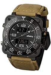 Night Vision INFANTRY Special Force Mens Wrist Watch Military Army Sports Genuine Leather