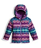 The North Face Toddler Girls Reversible Mossbud Swirl Jacket - Algiers Blue Fair Isle Print - 2T
