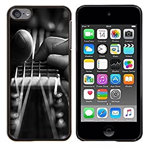 Guitarra Mano- Metal de aluminio y de plástico duro Caja del teléfono - Negro - iPod Touch 6