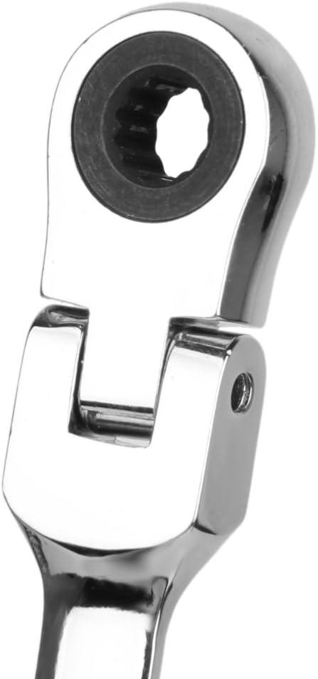 LOVIVER Cl/é /À Cliquet T/ête Flexible Anneau R/éversible Outil De Ecrou Taille 6-13mm 7mm