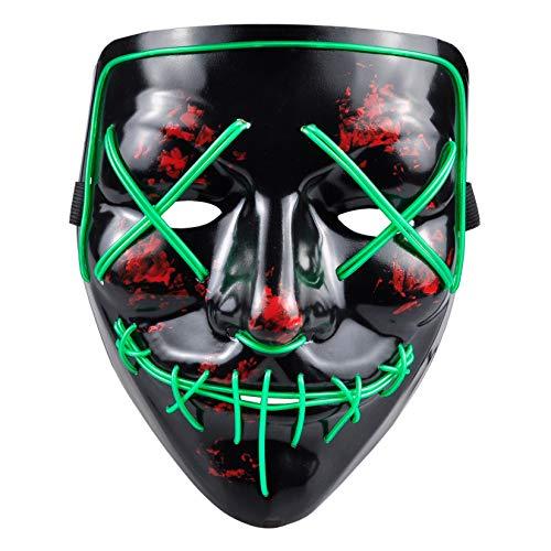 PINFOX Light Up Led Mask Flashing El Wire