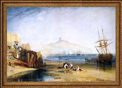 Art Oyster Joseph William Turner Scarborough Town Castle: Morning: Boys Catching Crabs - 18.05