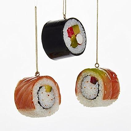 - Amazon.com: Kurt Adler Plastic Sushi Ornaments, Set Of 3: Home & Kitchen