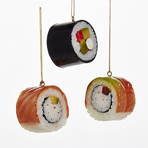 (Kurt Adler Plastic Sushi Ornaments, Set of 3 )