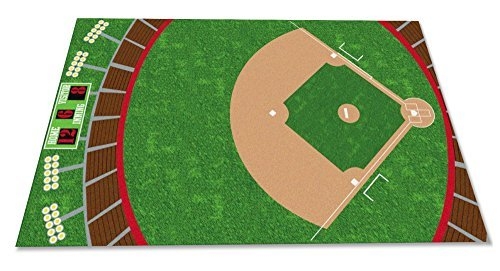 Kid Carpet FE794-22A Baseball Stadium Nylon Area Rug 4' x 6' Multicolored [並行輸入品]   B07HLRQSGZ