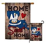 Ornament Collection S191130-BO State Louisiana Home Sweet Home Americana States Impressions Decorative Vertical House 28″ X 40″ Garden 13″ X 18.5″ Double Sided Flags Set Printed in USA Multi-Color For Sale