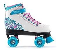SFR Vision II Rollschuhe Disco Roller Kinder weiß-pink-purple white-blue, 32