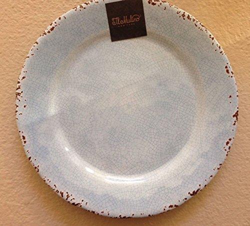 IL Mulino Melamine Set of 4 Salad Plates RUSTIC ALMOND CREAM