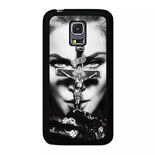hülle Handyhülle Shell Unique Cross Design Super Singer Madonna Ciccone Phone hülle Handyhülle Cover for Samsung Galaxy S5 Mini Madonna New Stylish,Telefonkasten SchutzHülle