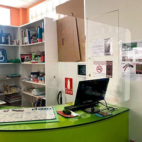 Mampara colgante de protección de metacrilato 100x70 (2mm. de grosor) (incluye accesorios): Amazon.es: Bricolaje y herramientas