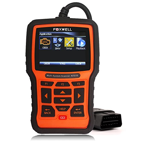 Foxwell NT510 Obd2 Scanner ABS, SRS, EPB, Electronic Power Steering, Transmission Diagnostic Scan Tool with OIL Service Reset, ABS Reset Service Functions (BMW version)