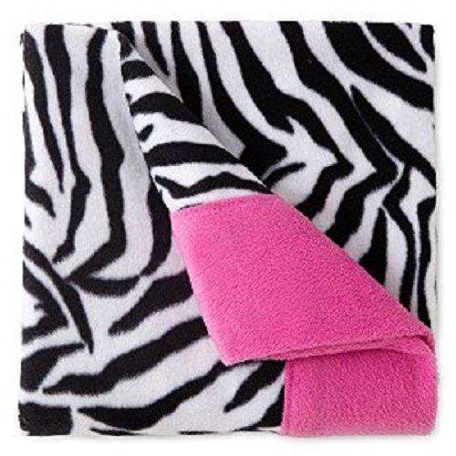 Zebra Striped Sheets - Sunbeam Super-soft Heavyweight Fleece Sheet Set{zebra Striped} Twin Size